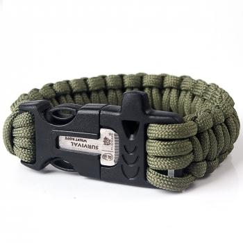 Paracord Armband Survival-Seil geflochten aus reißfestem Parachute Cord blau