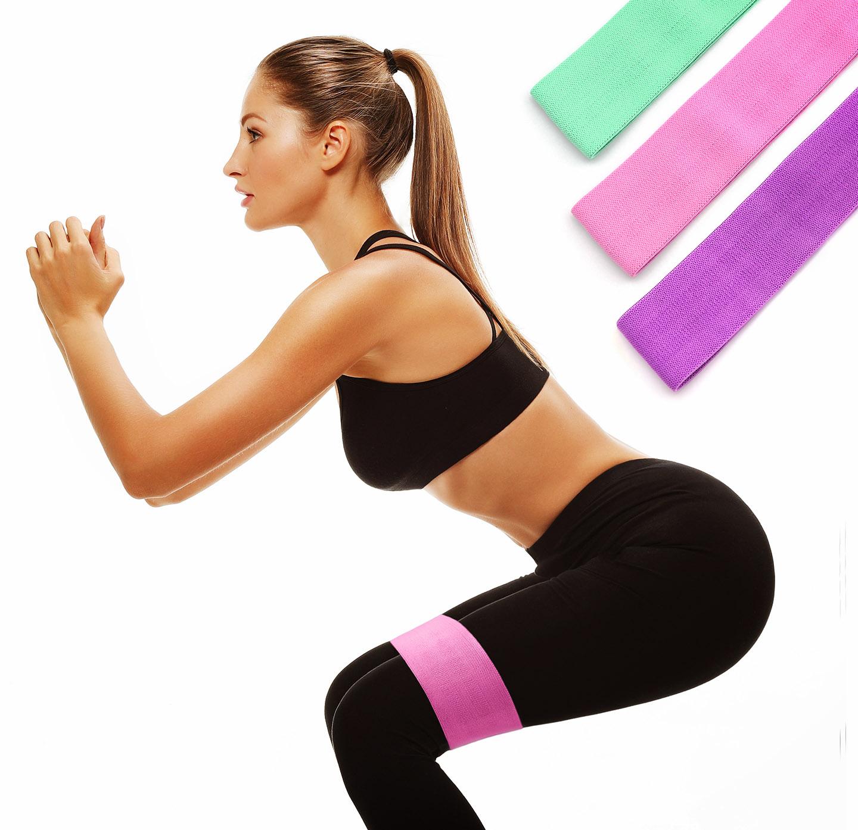 3X  Fitnessbänder Sport Fitnessband Widerstandsband Gymnastikband 120x15cm